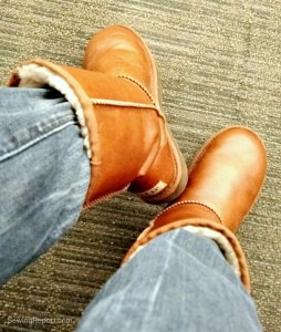 Sewing Report Jennifer Moore QuiltCon Selfie Ugg Australia Classic Short Leather Chestnut