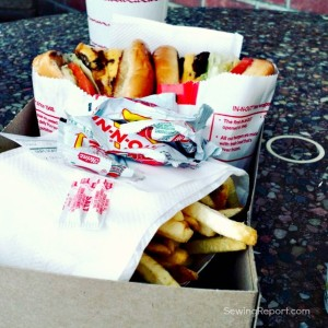 Sewing Report QuiltCon InNOut burgers in and out in n out