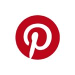 Pinterest logo white background