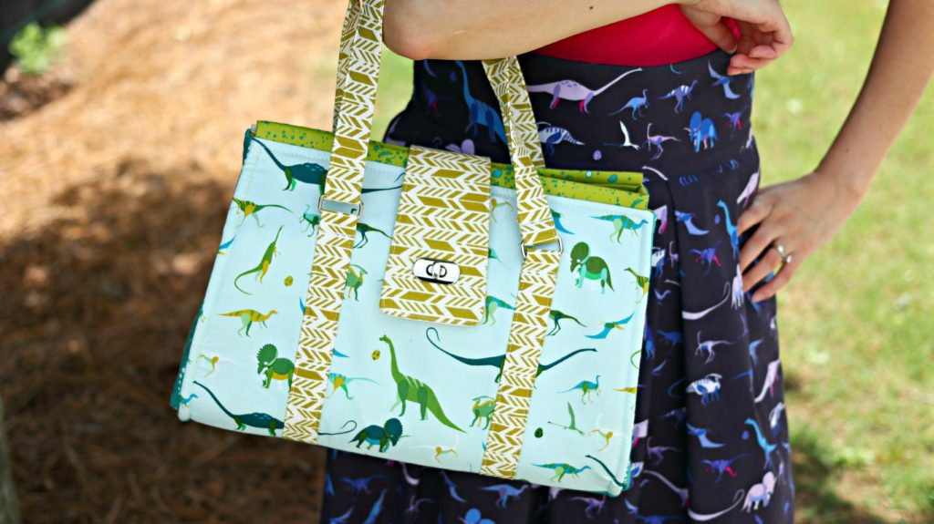 Dinosaur Purse Skirt Fabric Hanging Bag