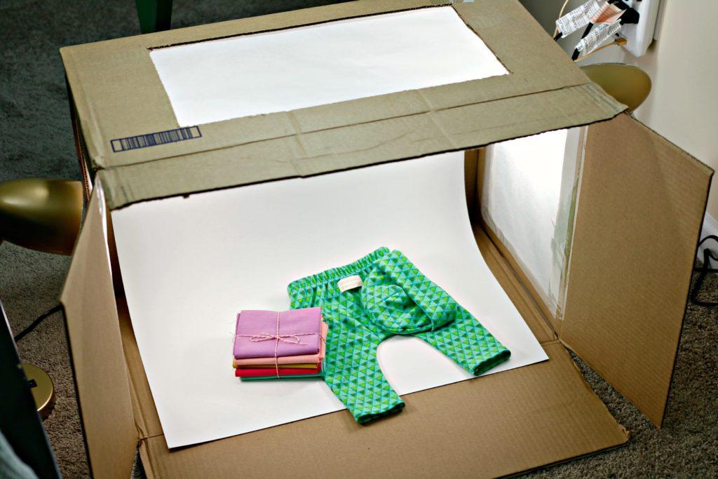 DIY Photography Light Box Wide Shot