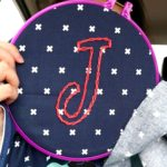Hand Embroidery in the Car Road Trip Sewing J Navy Blue Cotton Steel Fabric EMBROIDERY