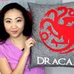 Dracarys Targaryen Sigil Dragon Game of Thrones DIY Throw Pillow EDITED