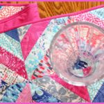 Sewing Report Pink Quilted Table Runner