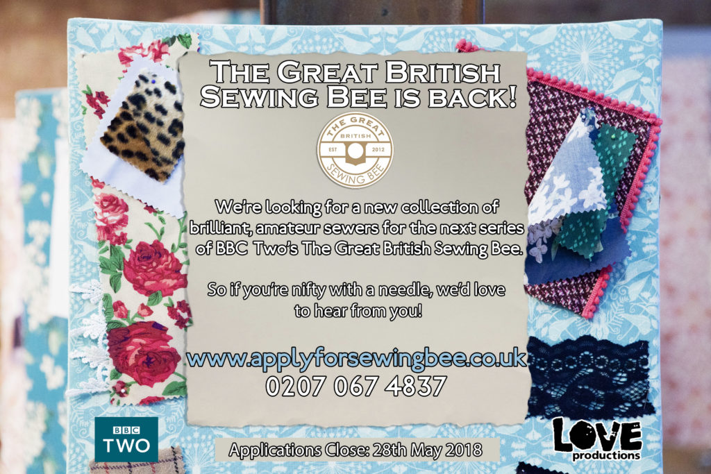 great british sewing bee flyer