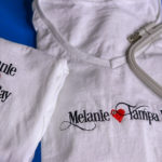 Brother PE800 Embroidering T Shirts Melanie